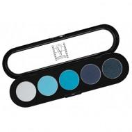 Палитра теней, 5 цветов Make-up Atelier Paris T07 синие-голубые тона: фото