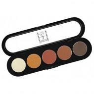 Палитра теней, 5 цветов Make-Up Atelier Paris T15 золотисто-коричневые тона: фото