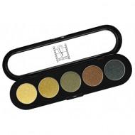 Палитра теней, 5 цветов Make-Up Atelier Paris T18 амазонка атласные тона: фото