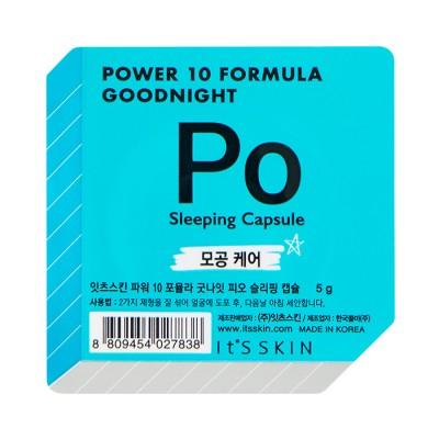 Ночная маска-капсула, сужающая поры It's Skin Power 10 Formula Goodnight Sleeping Capsule PO 5г: фото