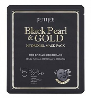 Маска гидрогелевая с черным жемчугом PETITFEE Black Pearl & Gold Hydrogel Mask Pack: фото