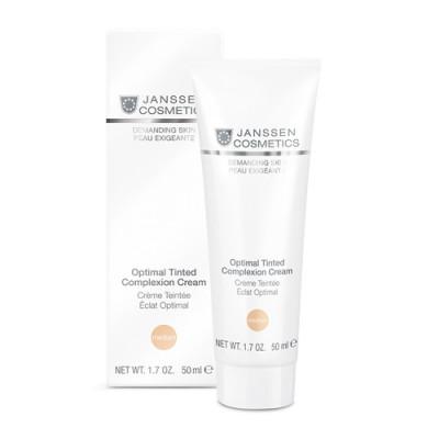 Крем дневной Janssen Cosmetics Optimal Tinted Complexion Cream Medium SPF10 50мл: фото