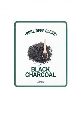 Тканевая маска с древесным углем A'PIEU Pore Deep Clear Black Charcoal Mask 25гр: фото