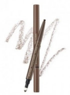 Карандаш для бровей 3 в1 THE SAEM Eco Soul Designing Eyebrow 01 Brown 0,2г+0,12г: фото