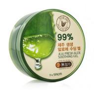 Гель с алоэ универсальный увлажняющий THE SAEM Jeju Fresh Aloe Soothing Gel 99% 300мл: фото