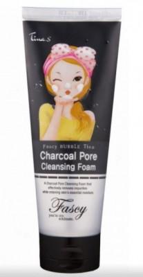 Пенка для очищения с древесным углем FASCY BUBBLE Tina Charcoal Pore Cleansing Foam: фото