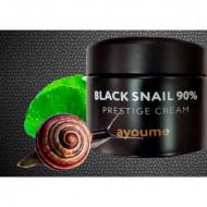 Крем для лица улиточный AYOUME 90% Black Snail Prestige Cream 70мл: фото