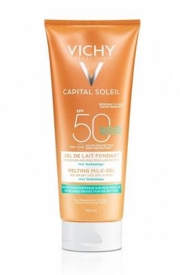 Эмульсия тающая с технологией нанесения на влажную кожу Vichy Ideal Soleil SPF50 200мл: фото