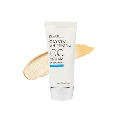 СС-крем осветляющий 3W CLINIC Crystal Whitening CC Cream SPF50+/PA+++ #2: фото