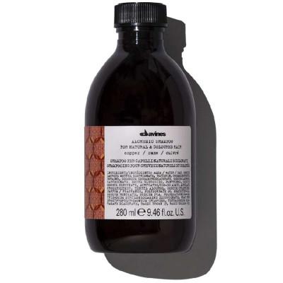 Шампунь АЛХИМИК для натуральных и окрашенных волос медный DAVINES ALCHEMIC SHAMPOO FOR NATURAL AND COLOURED HAIR 280 мл: фото