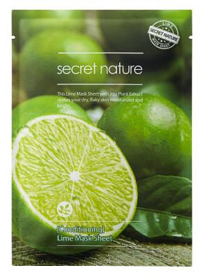 Тканевая маска для лица с лаймом Secret Nature Conditioning Lime Mask Sheet 25 мл: фото