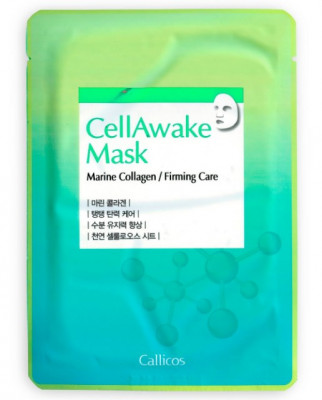 Тканевая маска с морским коллагеном Callicos CellAwake Marine Collagen 25 г: фото