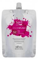 Краска полуперманентная Kaaral Color Splash 52 PINK FIZZ розовый 200 мл: фото