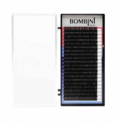 Ресницы Bombini Черные, 20 линий, изгиб D – MIX 8-14 0.05: фото