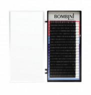 Ресницы Bombini Черные, 20 линий, изгиб D – MIX 9-12 0.085: фото