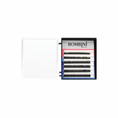 Ресницы Bombini Черные, 6 линий, изгиб D+ - mini-MIX 9-11 0.07: фото