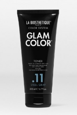 Кондиционер полуперманентный тонирующий для седых волос La Biosthetique Glam Color Toner .11 Steel Gray 200 мл: фото