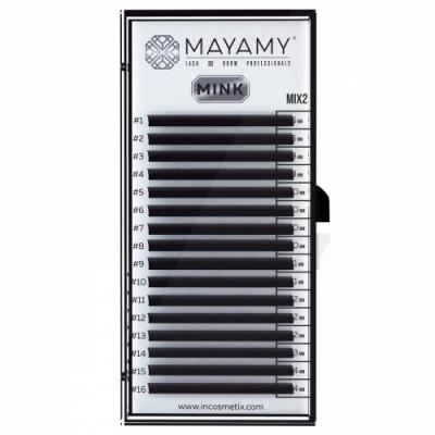 Ресницы MAYAMY MINK 16 линий D 0,05 MIX 2: фото