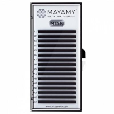 Ресницы MAYAMY MINK 16 линий С 0,12 9 мм: фото