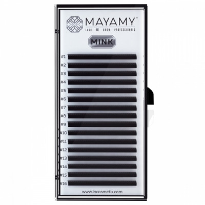 Ресницы MAYAMY MINK 16 линий С 0,07 12 мм: фото
