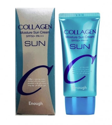 Крем солнцезащитный увлажняющий с коллагеном Enough Collagen Sun Cream SPF50+ PA+++ 50мл: фото