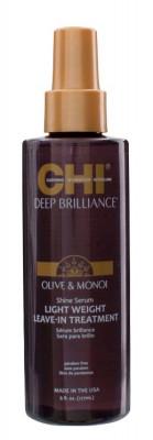 Сыворотка-Сияние Легкая Несмываемая CHI Deep Brilliance Olive & Monoi Shine Serum Light Weight Leave-In Treatment 177 мл: фото