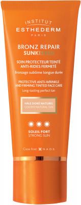 Крем для лица c оттеночным эффектом при сильном солнце Institut Esthederm Sun Care Bronz repair  50мл: фото