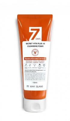 Очищающая пенка May island 7 Days Secret Vita Plus-10 Cleansing Foam 150мл: фото
