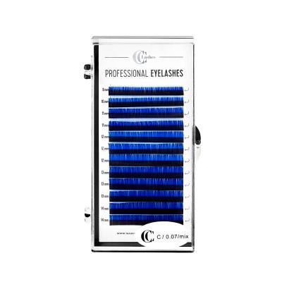 Ресницы CC Lashes C 0.07 mix, dark blue (темно-синий): фото