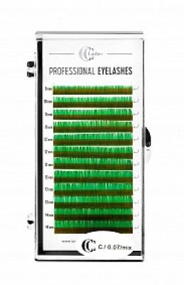Ресницы CC Lashes C 0.07 mix, dark green (темно-зеленый): фото