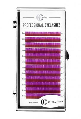 Ресницы CC Lashes C 0.07 mix, violet (фиолетовый): фото