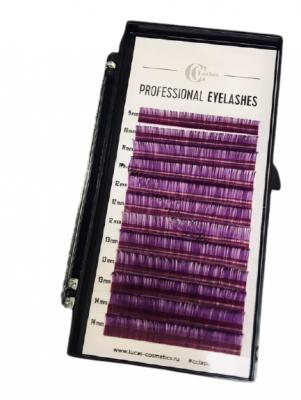 Ресницы CC Lashes D 0.10 mix, violet (фиолетовый): фото