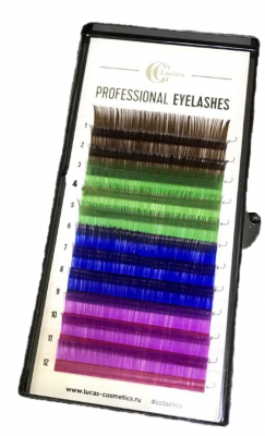 Ресницы CC Lashes D 0.07 / 14, color mix: фото