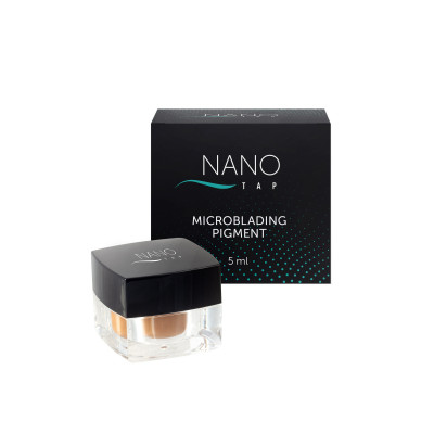 Пигмент для микроблейдинга бровей NANO TAP black brown 5 мл: фото