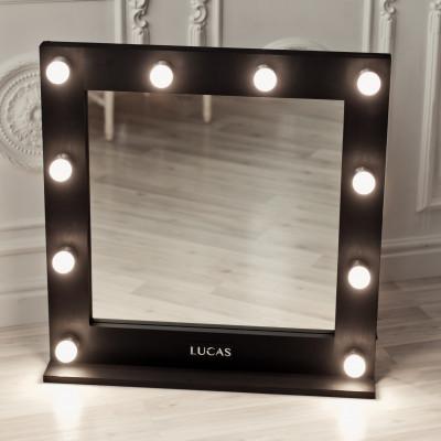 Зеркало для визажиста 75*75 см Lucas' Cosmetics, черное: фото