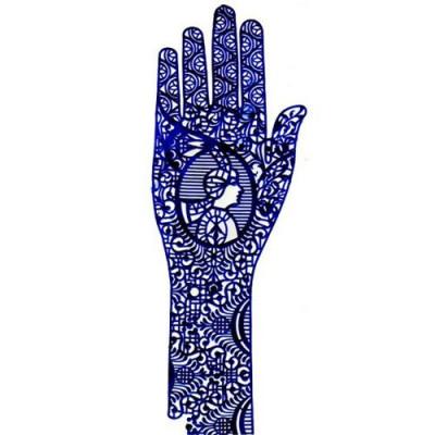 Трафареты для мехенди (рука) Lucas' Cosmetics: фото
